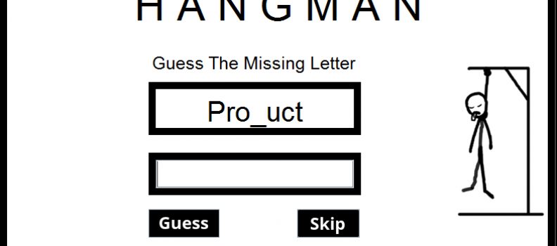 Hangman Game (Letter Guessing Game)
